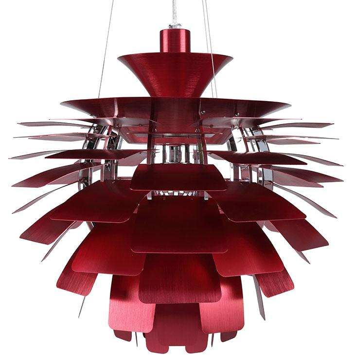 amazon com modway 24 petal chandelier modern lamp in red home