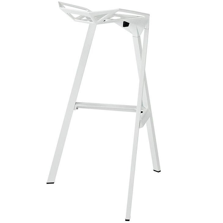 Modway launch bar stool stacking chair white for White plastic kitchen chairs