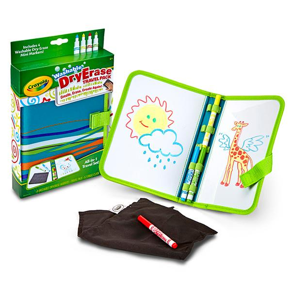 Amazon.com: Crayola Washable Dry-Erase Travel Pack, All-in
