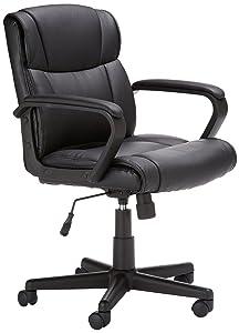 AmazonBasics Mid Back Office ChairAmazon com  AmazonBasics Mid Back Office Chair  Kitchen   Dining. Mid Back Office Chair Mainstays. Home Design Ideas