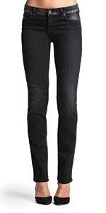 7 For All Mankind Women's Kimmie Straight-Leg Slim Illusion Luxe Jean In Bright Rinse