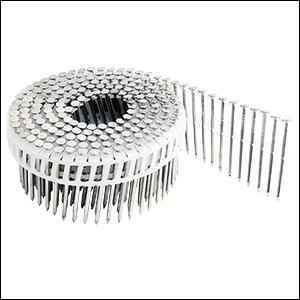 """15 degree plastic collated siding nail, fastener, coil, 2"""", inch, freeman"""
