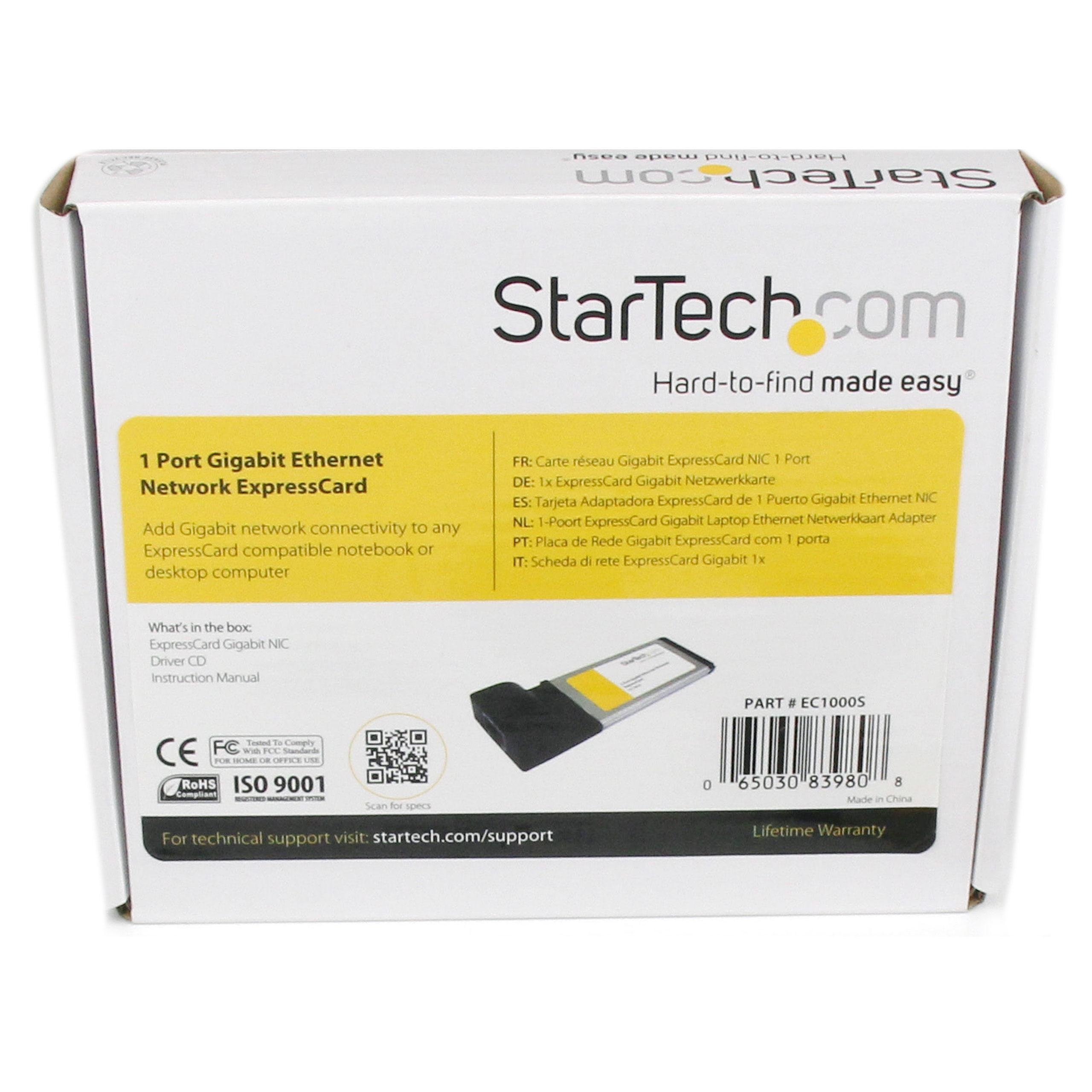 StarTech com 1 Port ExpressCard Gigabit Ethernet NIC Network Adapter Card