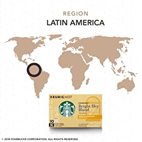 Starbucks Bright Sky Blend coffee - k-cup pod single package