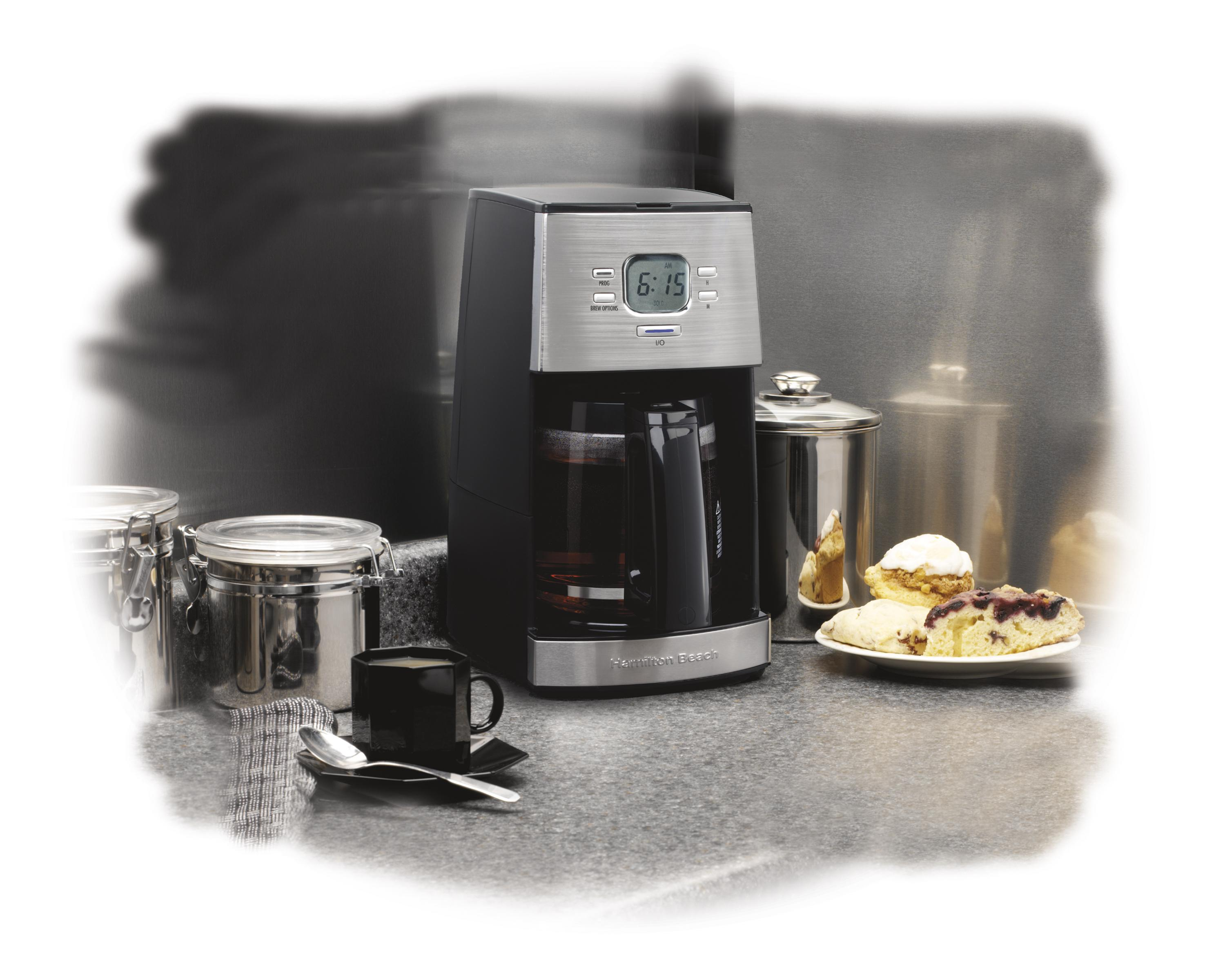 Coffee Maker K Cup And Pot Amazoncom Hamilton Beach 12 Cup Coffee Maker Ensemble 43254r