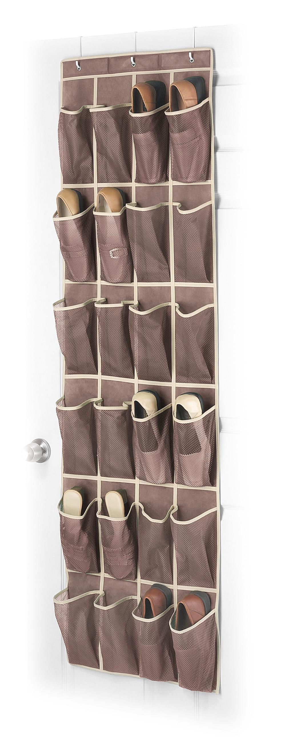 Whitmor 6351 1253 Fashion Color Collection Over The Door Shoe Organizer,  Java