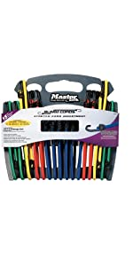 Master Lock 3044DAT Twin-Wire Bungee Assortment, 15-Pack