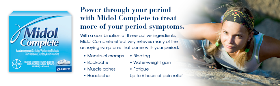 Amazon Midol Complete Caplets 40 Count Box Health Personal Care