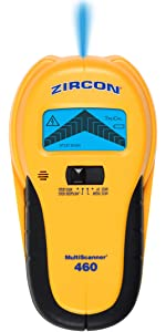 MS 460, multiscanner, multi scanner, ac scan, metal scan, deep scan, studscan, center finder, Zircon
