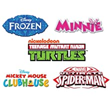 frozen, anna, elsa, disney, princess, dora, nick, ninja, turtles, tmnt, elmo, minnie, mickey, cars