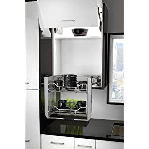 Amazon Com Rev A Shelf 5pd 36crn Large Wall Cabinet Pull Down Shelving System Home Kitchen