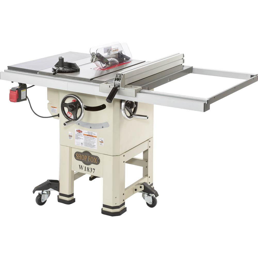 Shop fox w1837 10 2 hp open stand hybrid table saw for 10 hybrid table saw
