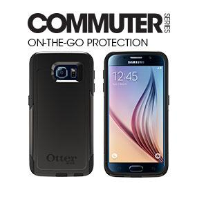 purchase cheap f8ee0 bfdfa OtterBox COMMUTER SERIES for Samsung Galaxy S6 - Retail Packaging - Casual  Blue (Sleet Grey/Dark Deep Water Blue)