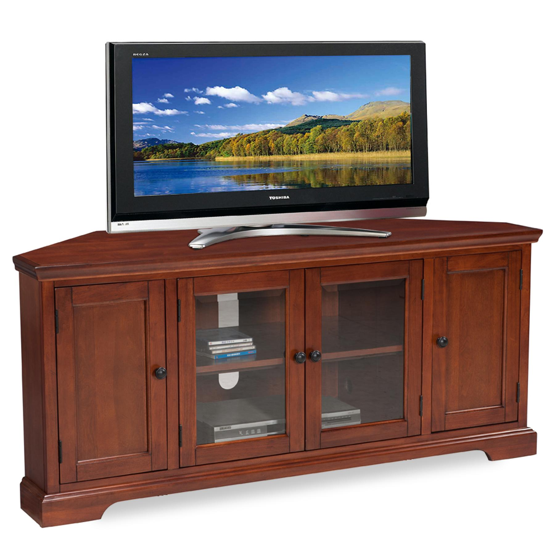 leick westwood corner tv stand 60 inch. Black Bedroom Furniture Sets. Home Design Ideas