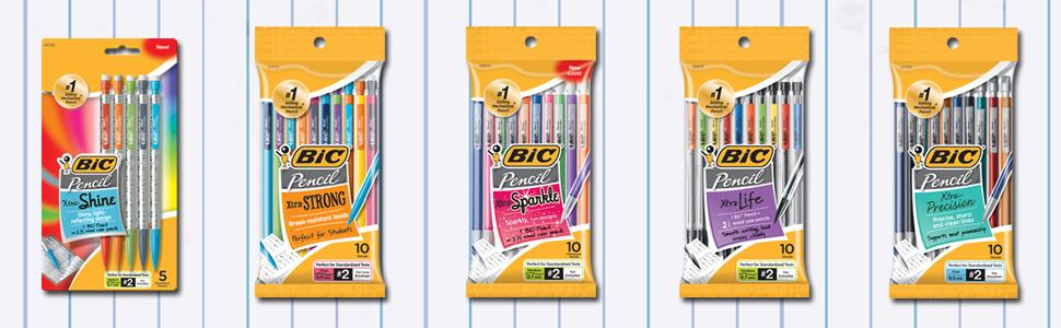 BIC, Back to School, Mechanical Pencil, Papermate, Lead Pencil, pencils for school