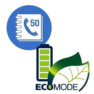 Panasonic KX-TGC350B 50 phonebook and Intelligent Eco Mode