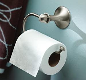Moen Lounge Toilet Paper Holder - Open-Arm Design for Easy Paper Changing