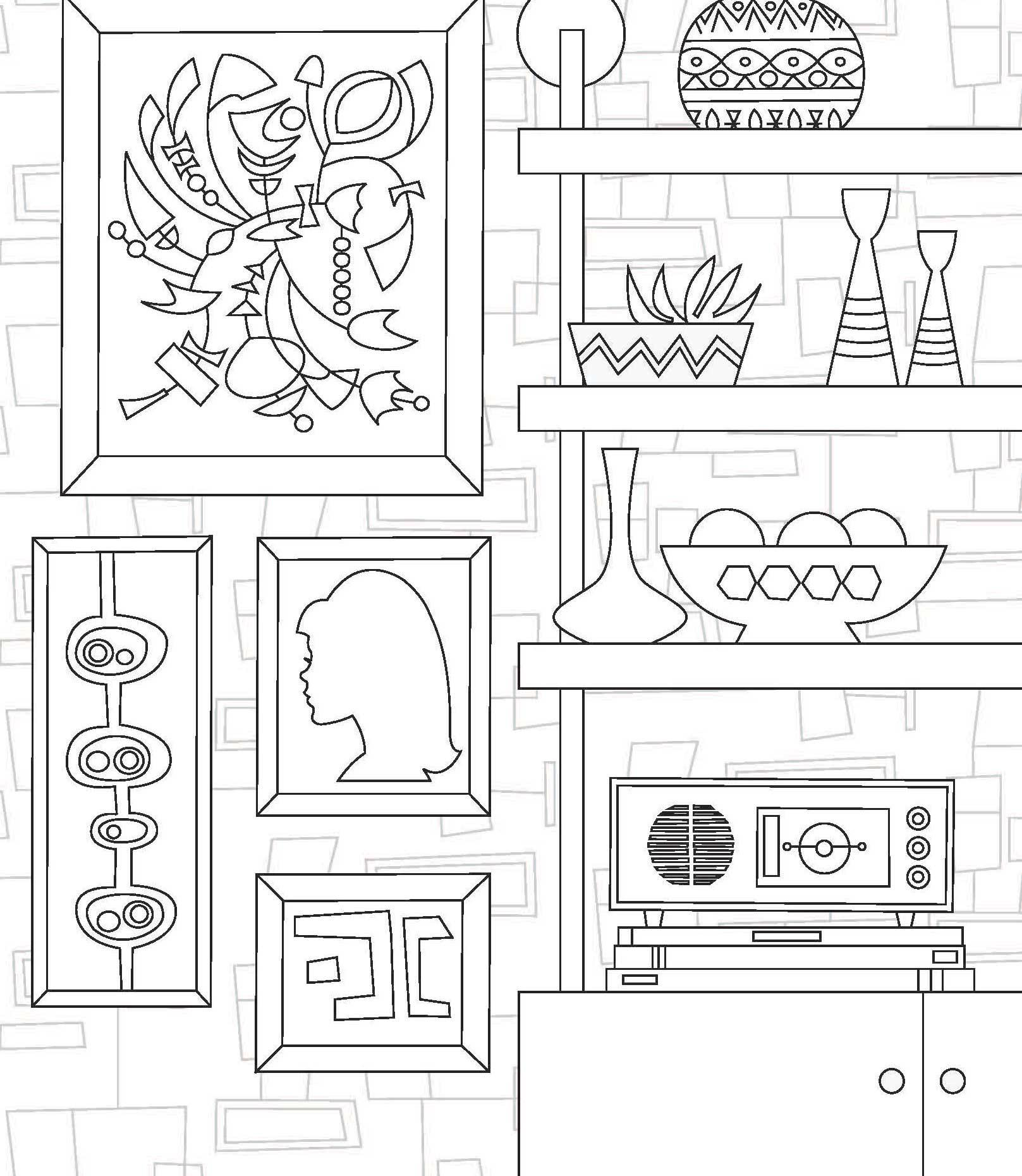 Coloring pages furniture - View Larger