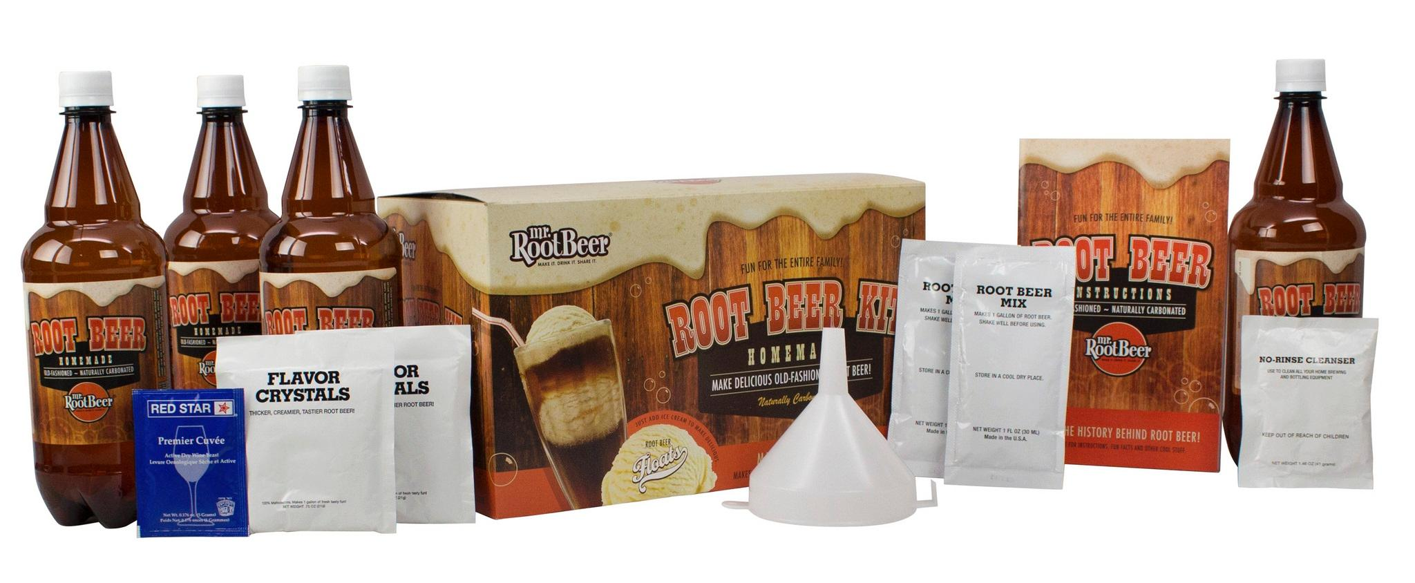 Amazon.com: Mr. Root Beer Home Brewing Root Beer Kit: Beer Brewing ...