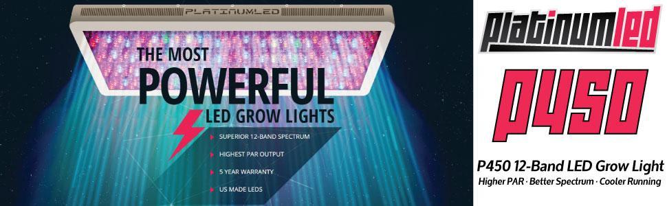 P450, PlatinumLED grow lights, led grow light, advanced led, diamond series, apollo, mars hydro