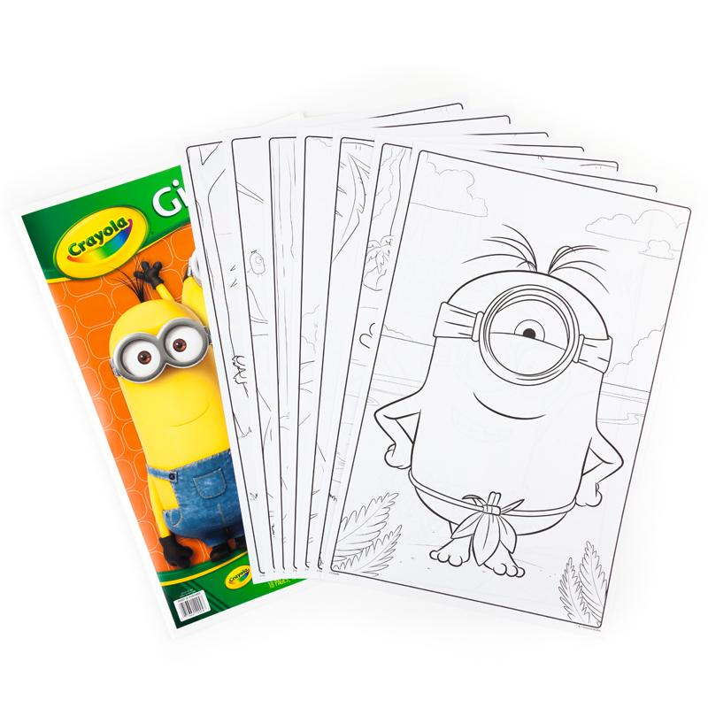 Amazon Com Crayola Giant Color Pages Minions Toys Games