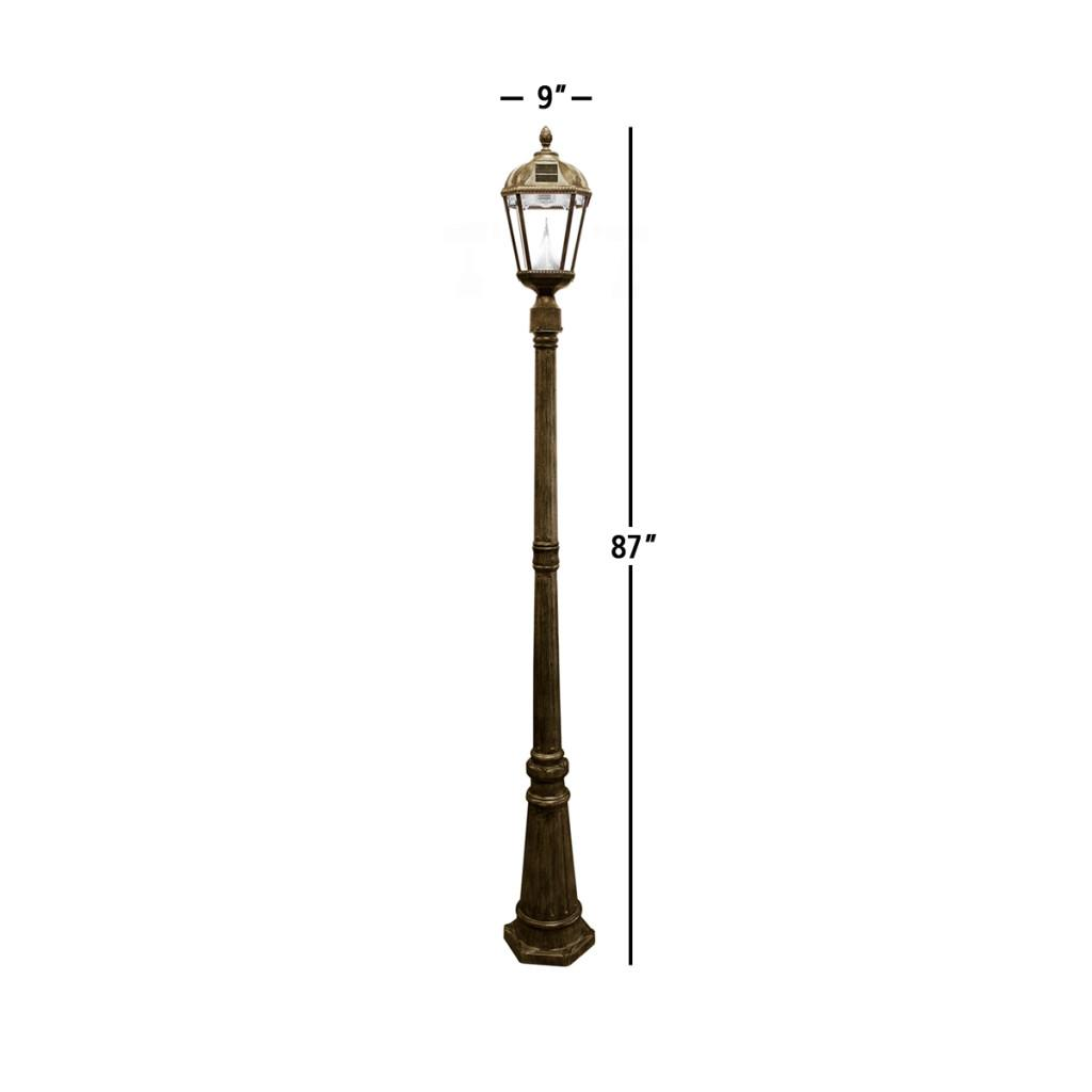 Amazon.com : Gama Sonic Royal Solar Lamp Post and Single