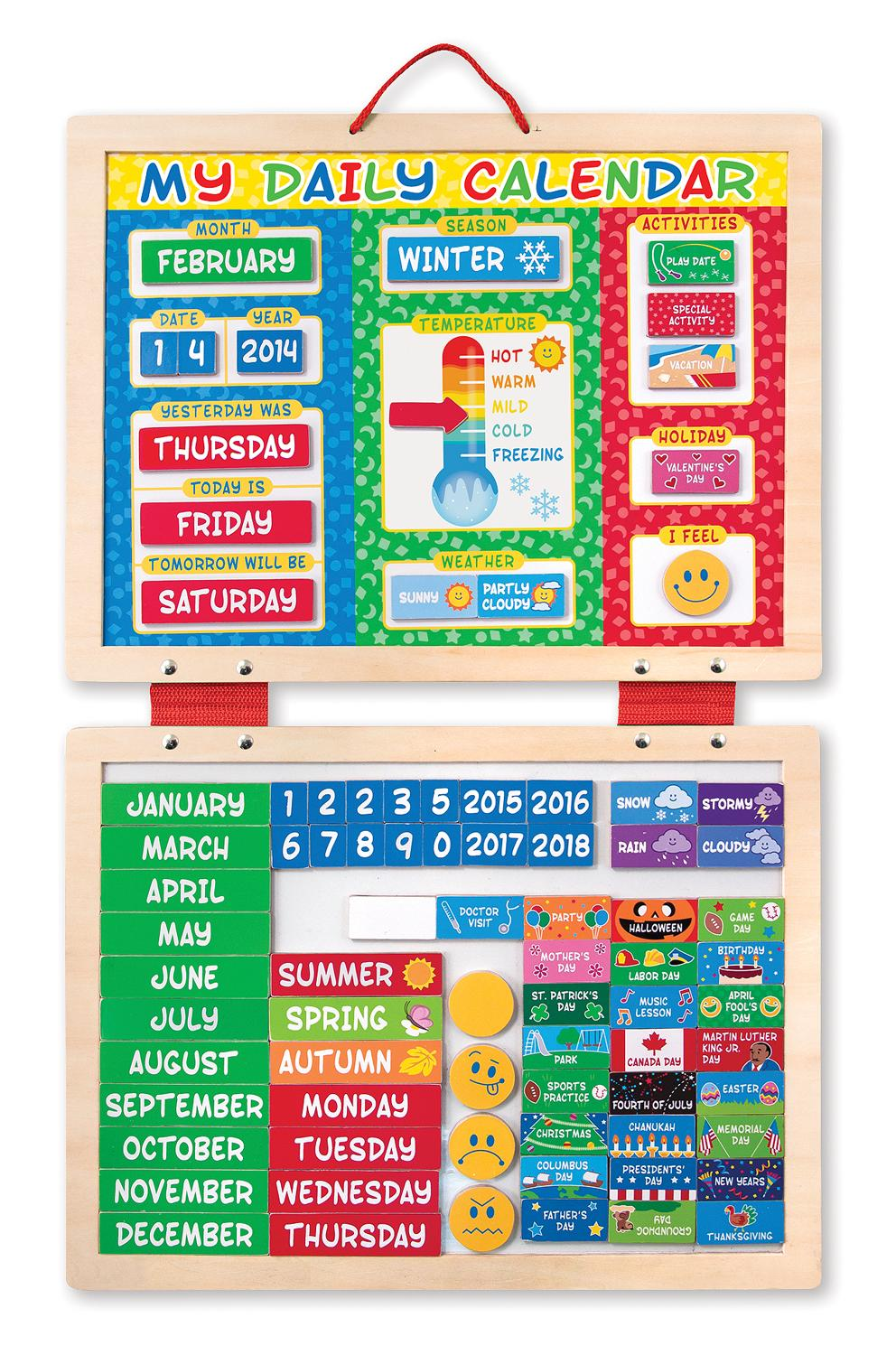 Calendar Ideas Early Years : Amazon melissa doug my first daily magnetic
