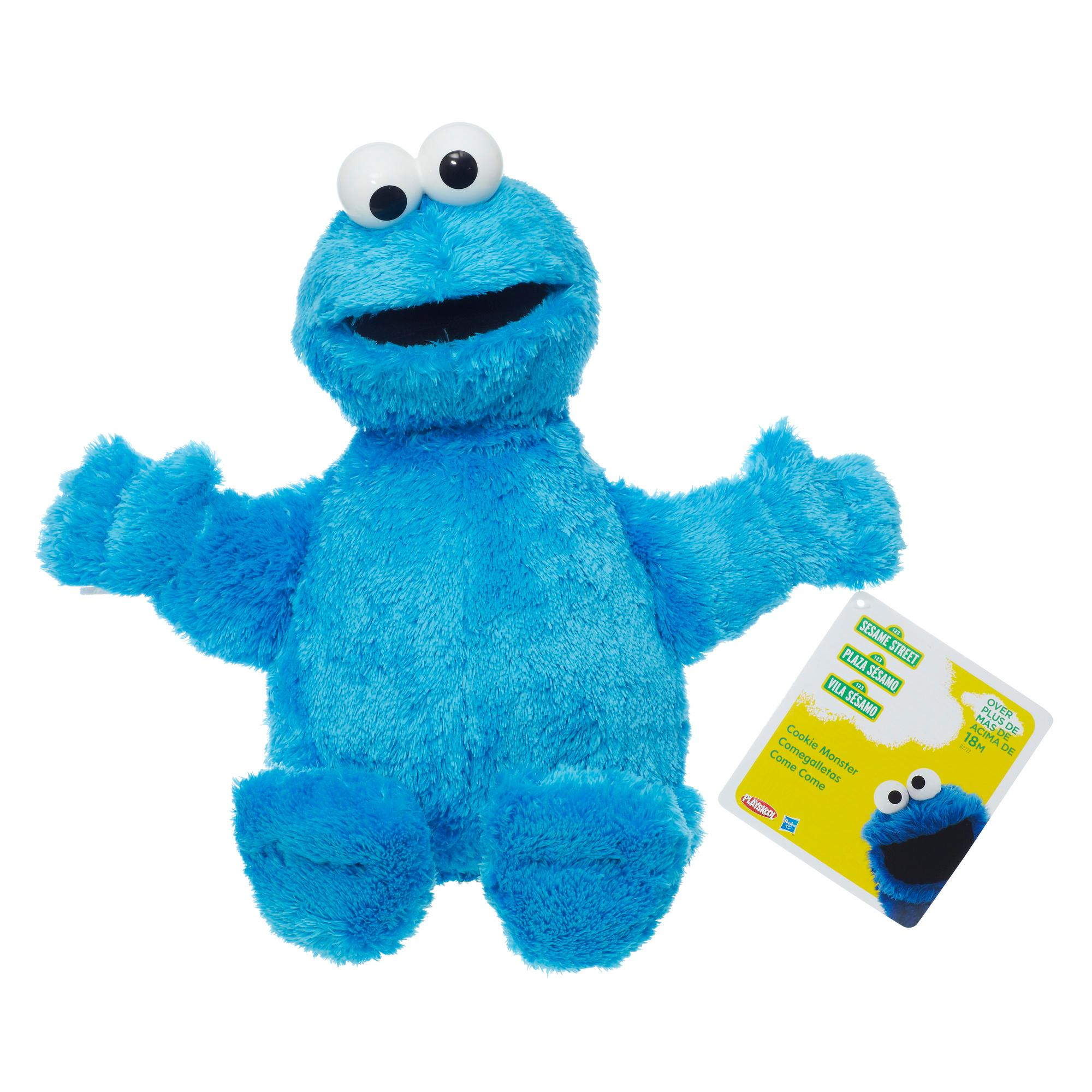 Amazon Com Playskool Sesame Street Cookie Monster Jumbo Plush 20