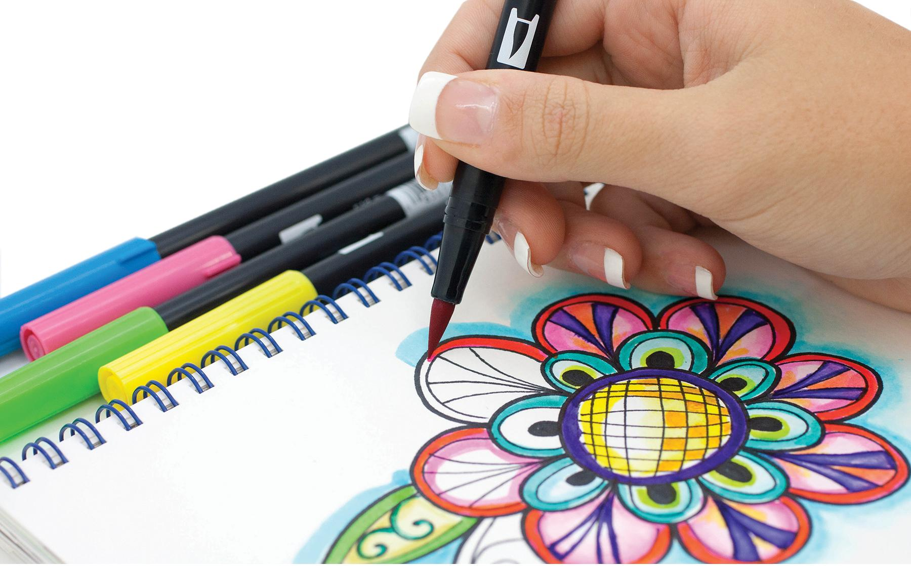 Amazon.com: Tombow Dual Brush Pen Art Markers, Manga Shojo ...  Amazon.com: Tom...