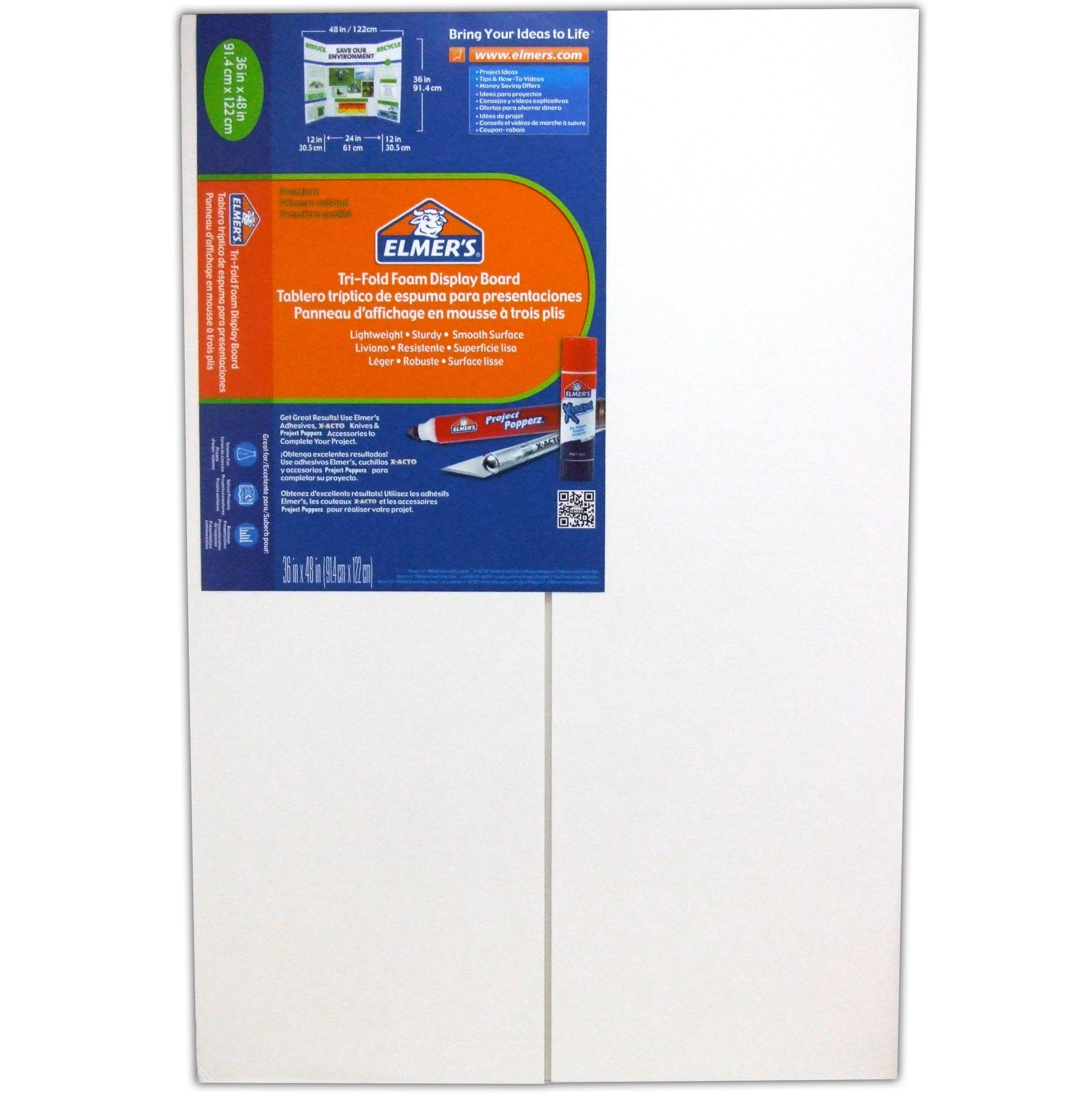 two three fold boards Elmer's project display board, white, 36 x 48 item : epi730205 / model : epi730205 (1) add to favorites tri-fold project display board makes displaying graphics and information easy and neat ideal for school or business presentations, project displays, science fairs and more offers heavy-duty, two-ply , corrugated core.