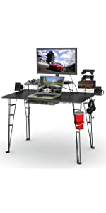desk Centipede game gaming video storage organization xbox ps3 ps4 wii guitar hero rockband tv stand