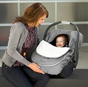Elasticized Outer Band Makes The Car Seat Cover Easy To Fit Over Your Or Stroller