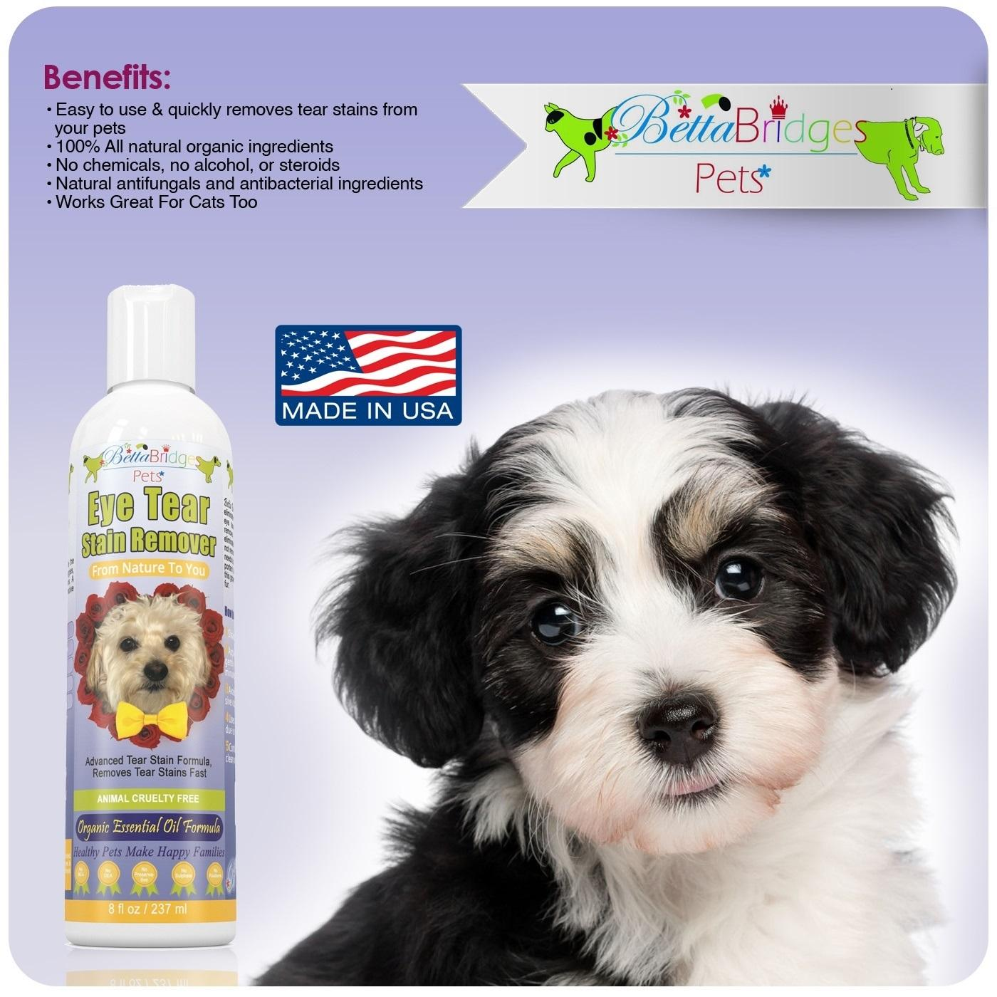 Betta Bridges Pets Natural Tear Stain Remover For Dogs