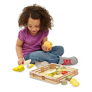 Play Food, play kitchen, early math skills, fractions, preschool toys