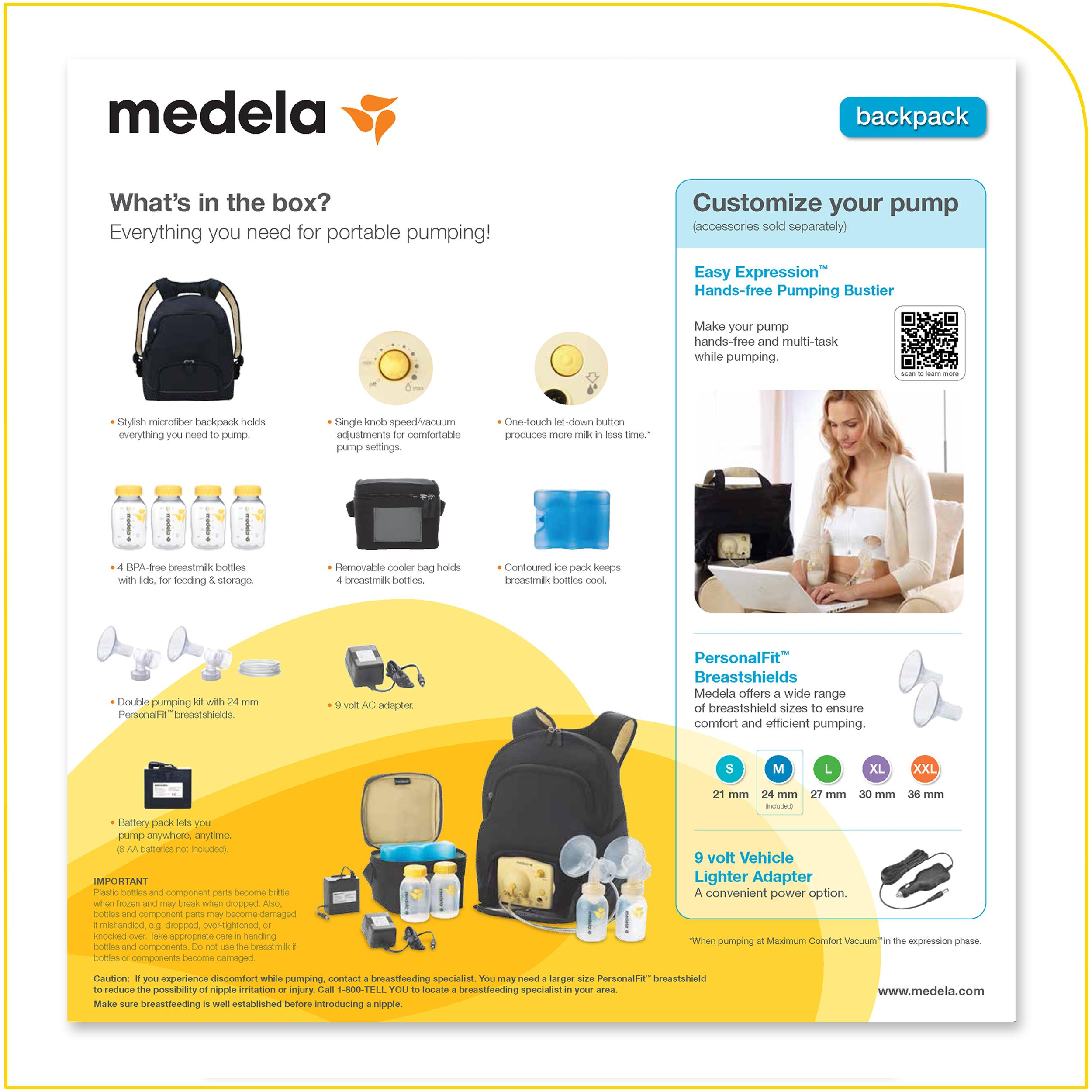 Medela Pump In Style Advanced Breast Pump Backpack - New -4861