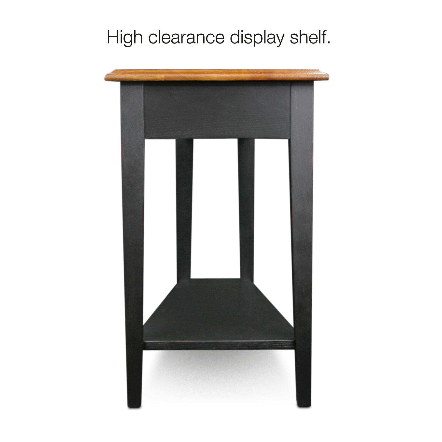 Kitchen Side Table: Amazon.com: Leick Recliner Wedge End Table, Black: Kitchen
