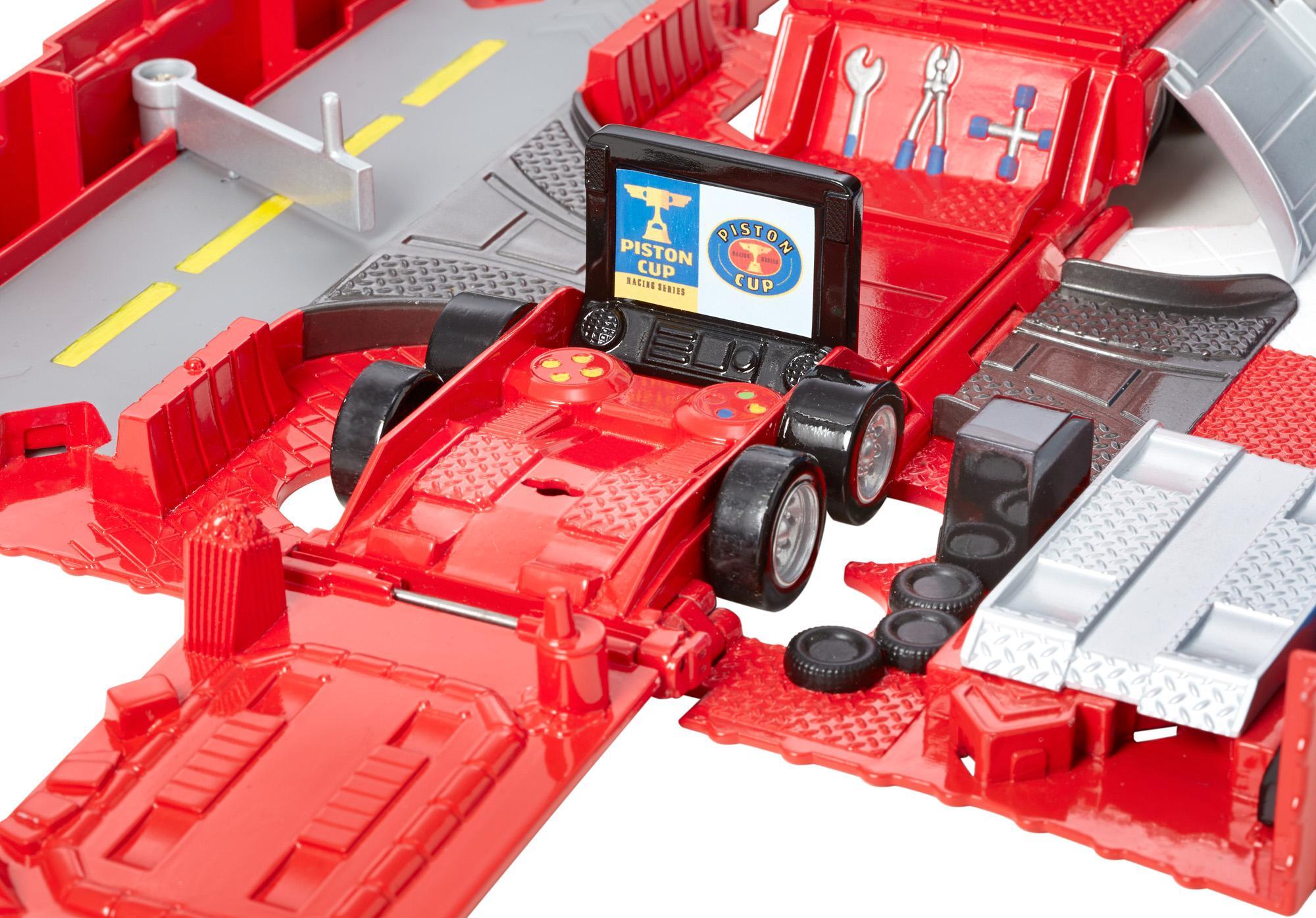 Amazon Com Disney Pixar Cars Mack Truck And Transporter