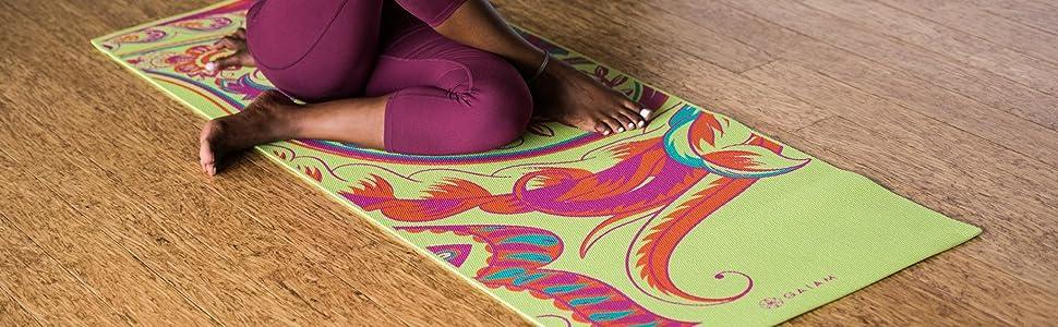 Amazon Com Gaiam Print Yoga Mat Aztec 4mm Sports