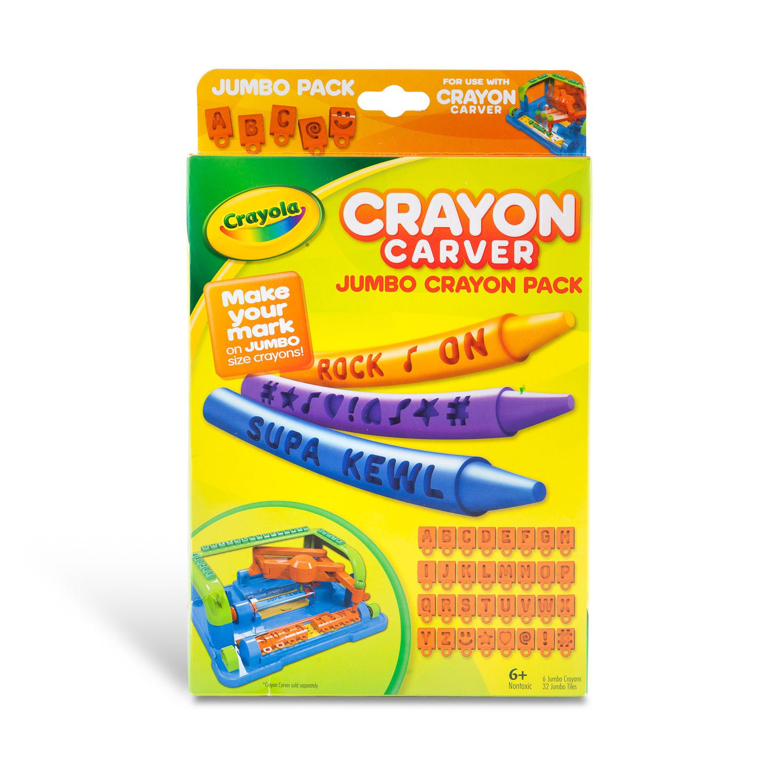 Amazon.com: Crayola Crayon Carver, Jumbo Expansion Pack: Toys & Games