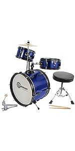 blue junior drum set