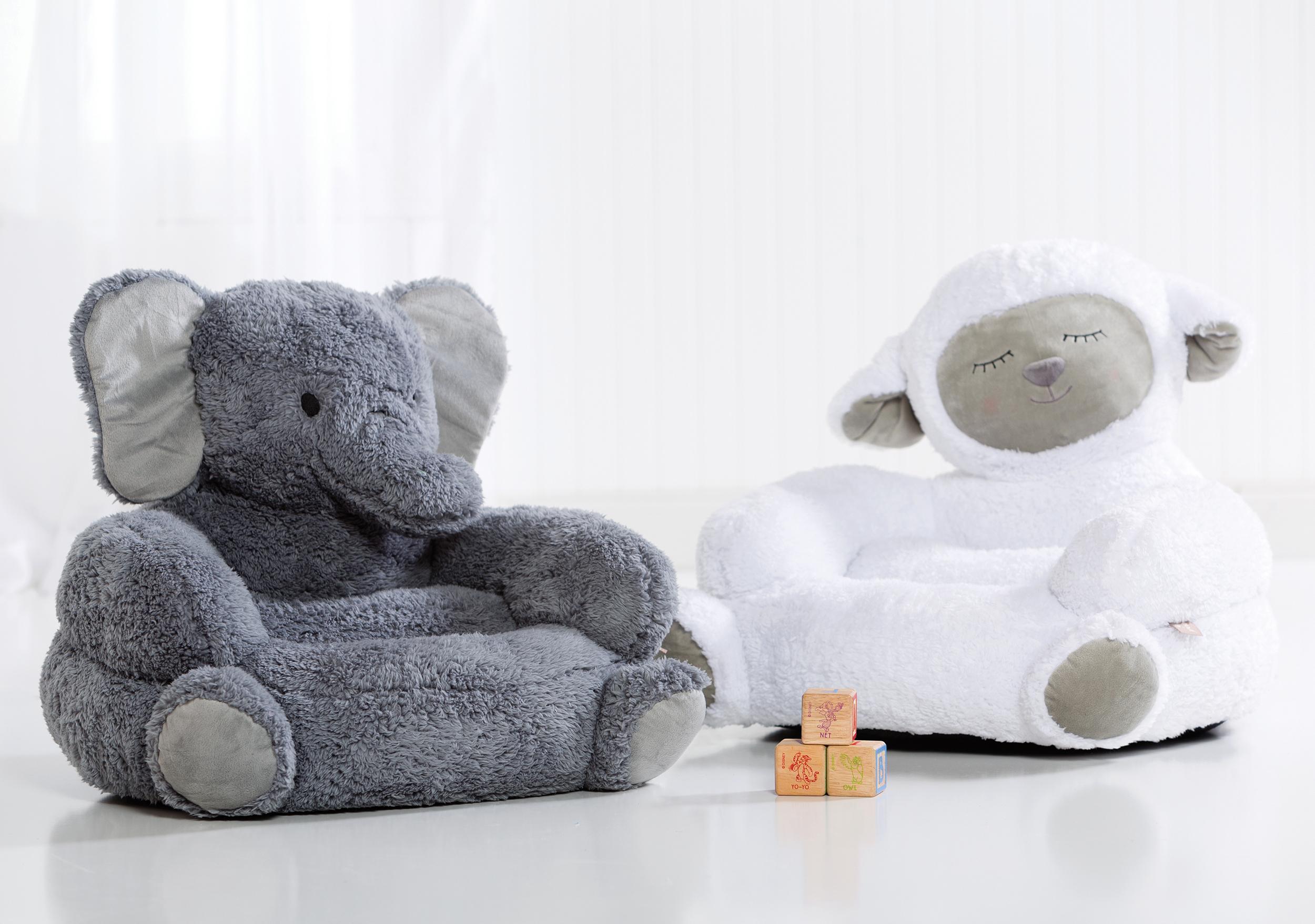 Elephant Chair, Lamb Chair, Character Chair, Plush Chair, Nursery Decor,  Gift