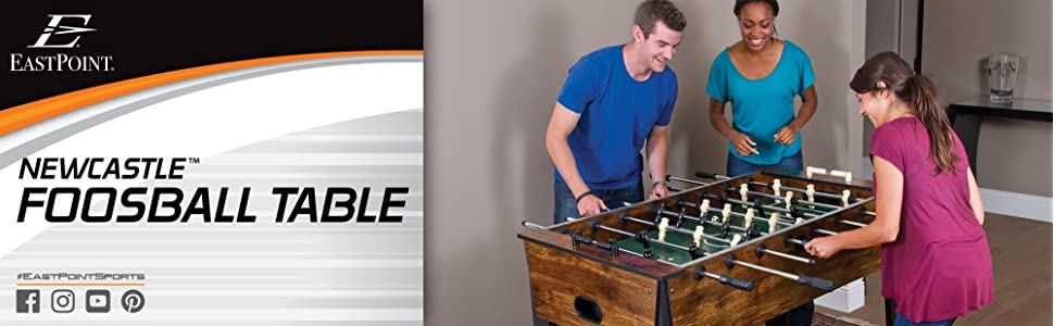 Amazoncom EastPoint Sports Newcastle Foosball Table Inch - Newcastle foosball table