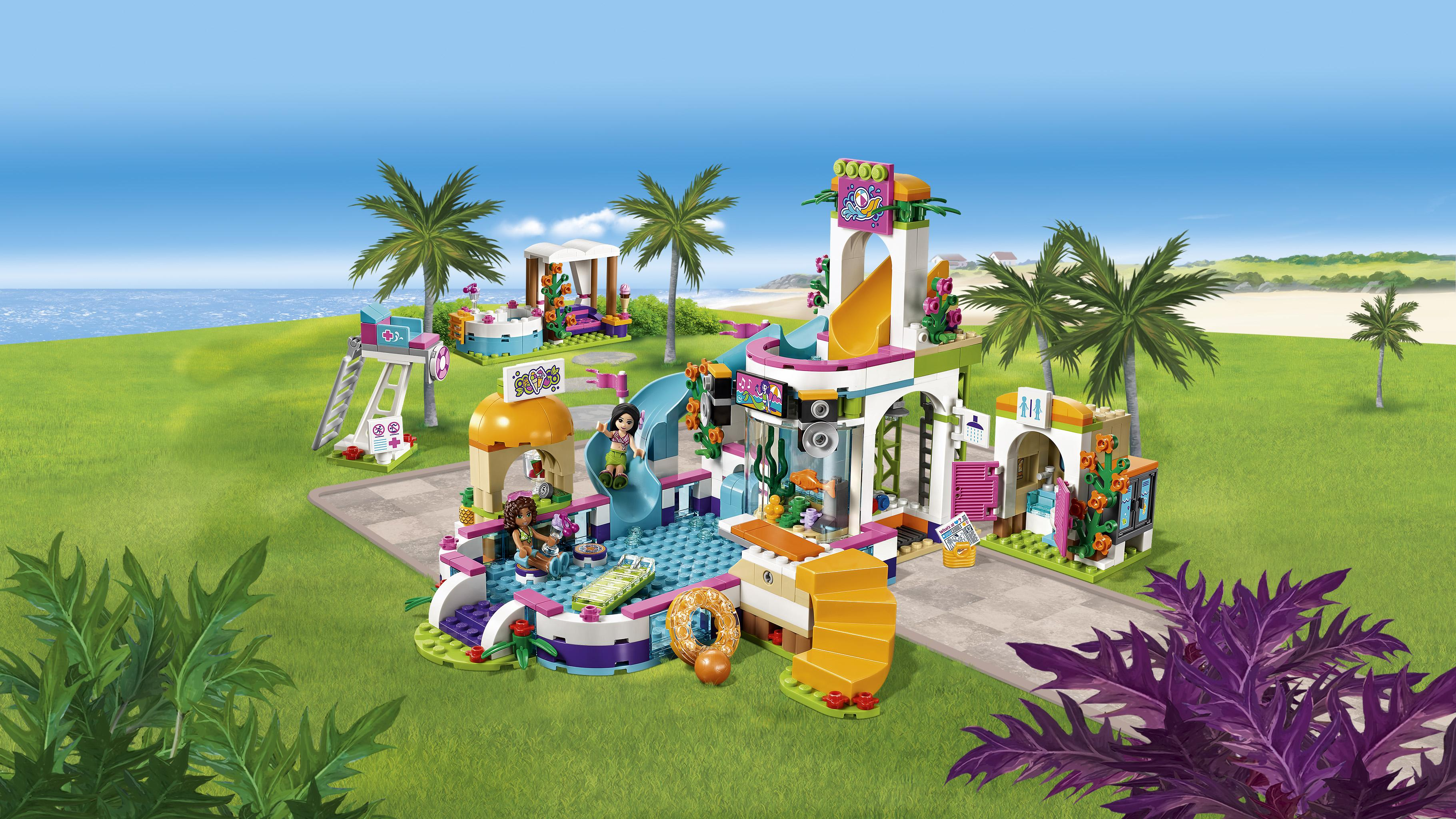 Lego friends heartlake summer pool 41313 new for Amazon piscina