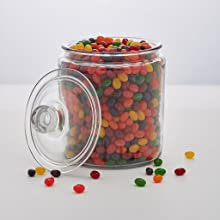 Guessing how many jellybeans in a jar game.
