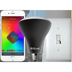 Ilumi outdoor bluetooth smart led br30 flood light bulb - Control lights with smartphone ...