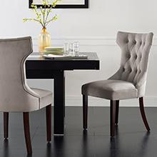 Dorel Living Clairborne Tufted Dining Chair 2 Pack Cocoa Color