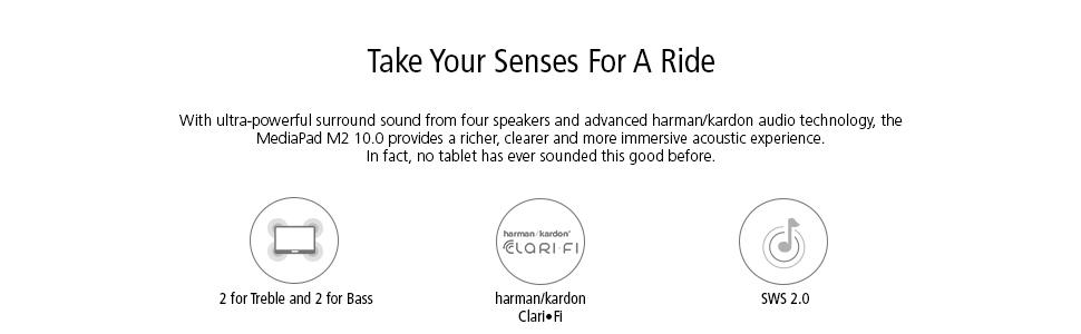 surround, sound, four speakers, harman, kardon, clari-fi, sws 2.0, powerful, ultra-powerful