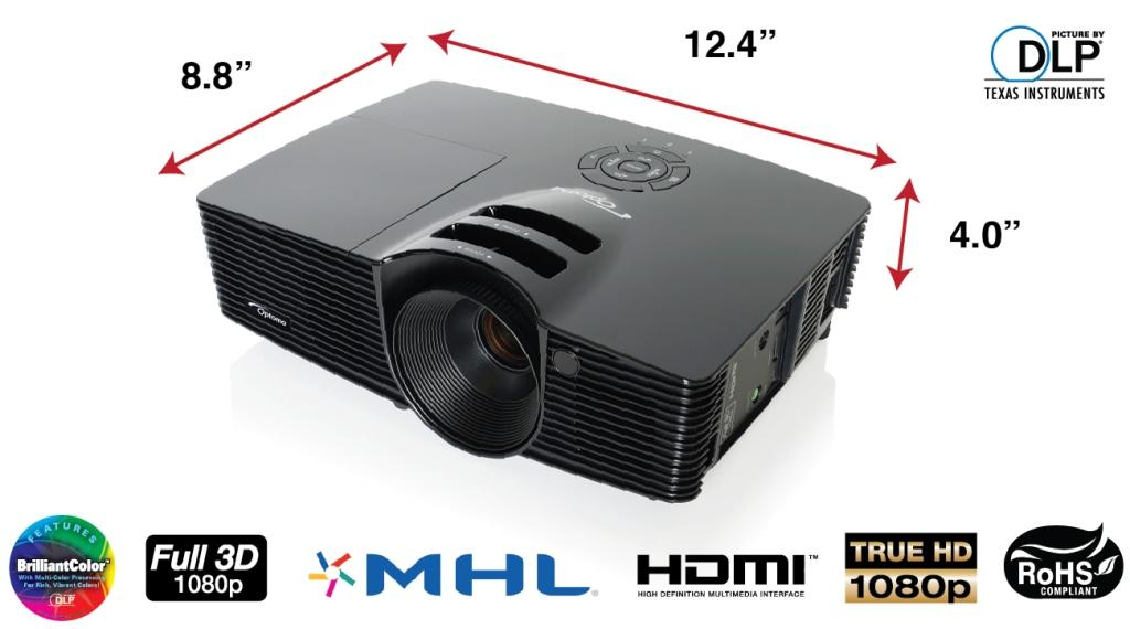 Optoma hd141x 1080p 3d dlp home theater for Hd projector amazon