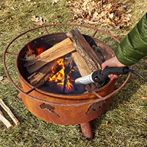 HomeRight ElectroLight Fire Starter with Camp Fire.