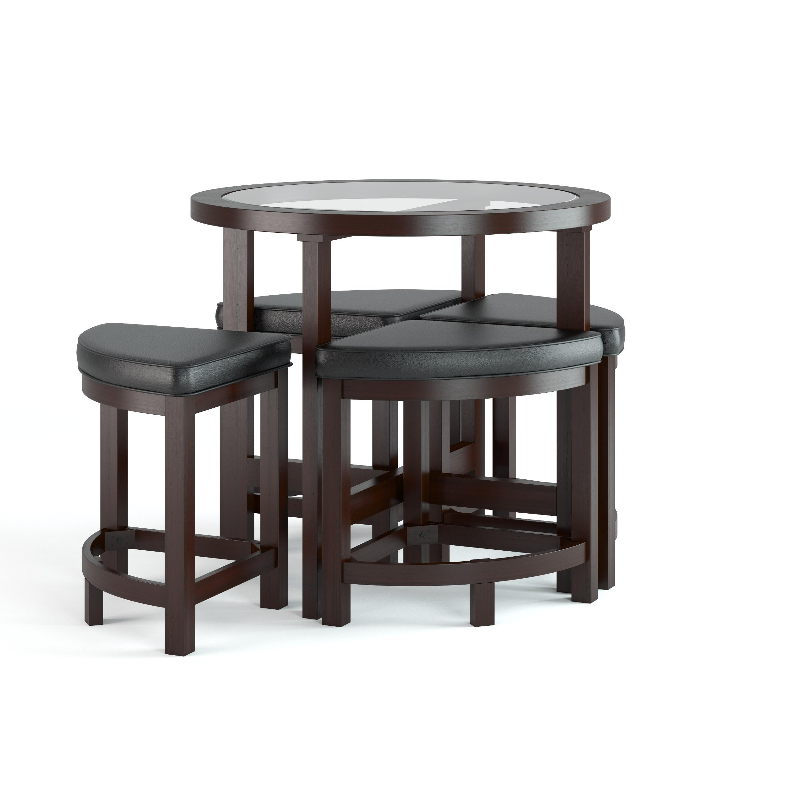 Corliving dbg 699 k belgrove dark espresso for Breakfast table with stools